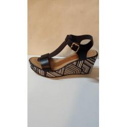 Sandale de JB MARTIN nupied DEMONE en cuir