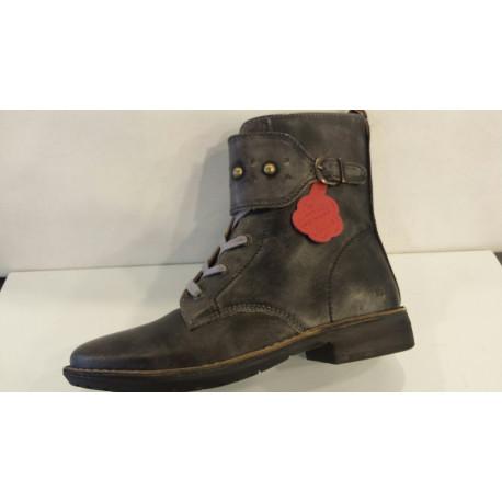 GROOVIZZ de KICKERS boot's ou chaussures montantes en cuir noir gris D