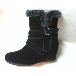 D AMELIA G boots compensé velours noir