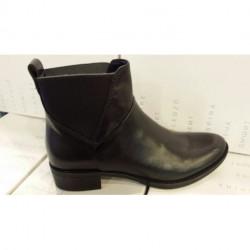 Boots ou bottine pour femme de GEOX D 5490 D OU D MENDI ST D en cuir noir