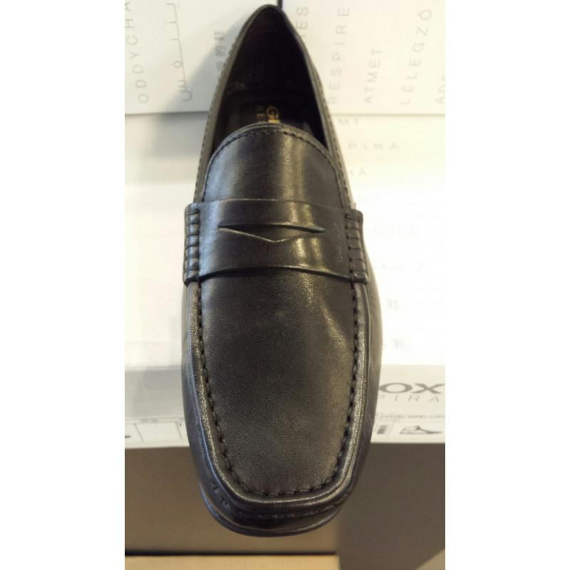 Mocasin de GEOX en cuir noir U 44Q6 B ou U W. MONET 2FIT B Achetez Au Puy