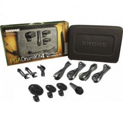 Micros batterie SHURE Malette de 4
