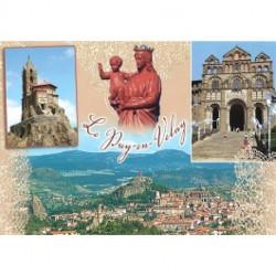 """Carte postale """"Le Puy en Velay + Dentelle"""""""