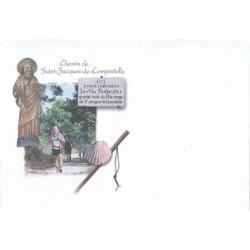"""Enveloppe illustrée """"Chemin de Saint-Jacques de Compostelle"""""""