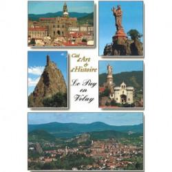 """Carte postale """"Cité d'Art et d'Histoire Le Puy en Velay"""""""