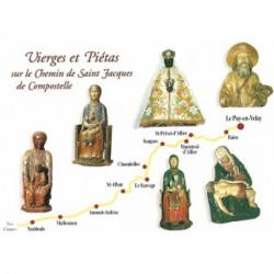 """Carte postale """" Vierges et Piétas sur le chemin de Saint Jacques de Compostelle"""""""
