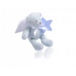 Ours peluche bleu avec étiquette étoile 20g