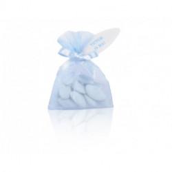 Pochette organdi 30g avec mini ruban et étiquette