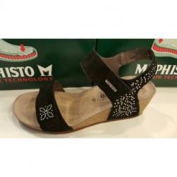 Sandales, chaussure confortable MARIE SPARK de Mephisto velcro - Talon de 6 cm