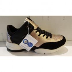BASKET mode de GEOX D SFINGE A ou D 642N A noir argent sneaker femme
