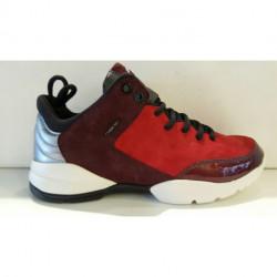 BASKET mode de GEOX D SFINGE A ou D 642N A noir ROUGE/BORDEAUX sneaker femme