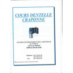 """Cours par correspondance """"Dentelle Craponne 1ère partie"""""""