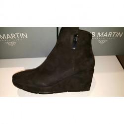 boot's ZELBA de JB MARTIN compensé velours noir