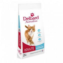 CROQUETTES DELBARD CHAT ADULTE POISSON 2KG