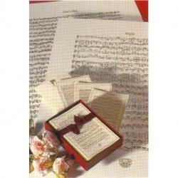CARTES DE CORRESPONDANCE - CALLIGRAPHIES MUSICALES 20 CARTES+ 20 ENVELOPPES