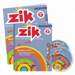 coffret ZIK 5ème FUZEAU livre et CD