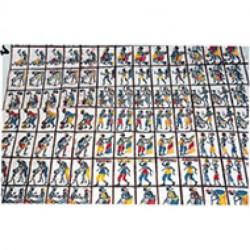 BATIK AFRICAIN - figurines à découper x 25 mini