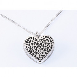 Collier en Argent Personnalisable Coeur Simple