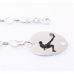 Bracelet en Argent Personnalisable Gros Galet