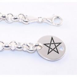Bracelet en Argent Personnalisable Petit Jeton Rond