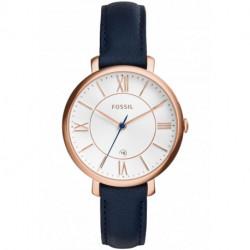 Montre Fossil Jacqueline - Rose Gold & Cuir bleu ES3843