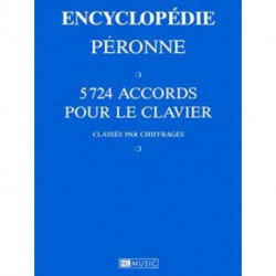 Encyclopédie des accords PERONNE - 5724 accords pour clavier