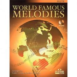 WORLD FAMOUS MELODIES partitions flûte traversière seule avec CD play along