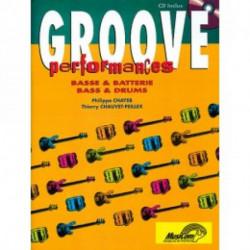GROOVE PERFORMANCES - basse et batterie avec CD