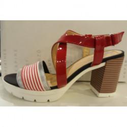 Sandales GEOX à talon haut et bottier D GINTARE B ou D827DB colorée chic mode