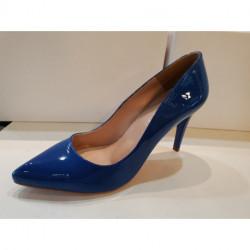 Escarpin pour femme G 8 REGINE GIULIA vernis bleu dur CAPRI CHAROL mode élégance confort talon haut 7cm