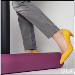 Escarpin pour femme GIULIA G 8 REGINE GIRASOL CHAROL VERNIS JAUNE mode élégance confort talon haut 7cm