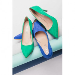 Escarpin pour femme G8 REGINE GIULIA FRANCIA ANTE NUBUCK ROYAL BLUE mode élégance confort talon haut 7cm