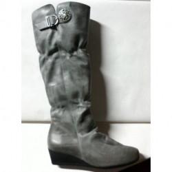 ZEK de ARCUS botte compensé en cuir gris souple