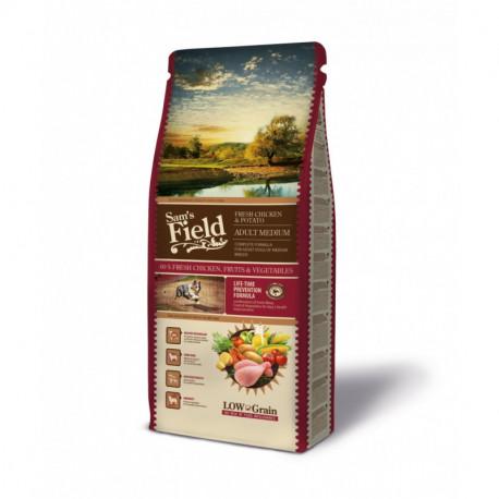 Croquettes Chien Pauvre en céréales Sam's Field Fresh Adult Medium Chicken & Potato Sac de 2.5 ou 13 kg