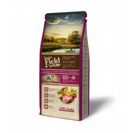Croquettes Chien Pauvre en céréales Sam's Field Fresh Adult Large Chicken & Potato Sac de 2.5 ou 13 kg