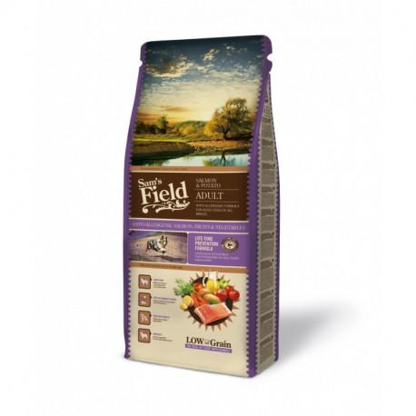 Croquettes Chien Pauvre en céréales Sam's Field Fresh Adult Salmon Hypoallergénique Sac de 2.5 ou 13 kg