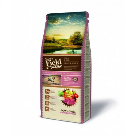 Croquettes Chien Pauvre en céréales Sam's Field Fresh Senior/Light Hypoallergénique Sac de 2.5 ou 13 kg