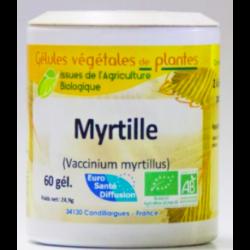 Myrtille - Gélules de plantes Bio Phytofrance