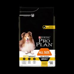Croquettes Chien Pro Plan Adult light/Stérilised Sacs de 3, 7 et 14 kg