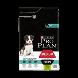 Croquettes Chien Pro Plan puppy digestion agneau Sacs de 3 et 12 kg