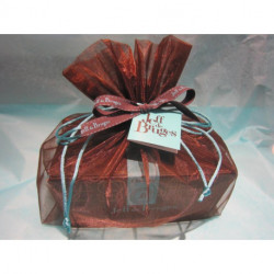 Pochette organdi et Ballotin de 750g de chocolats fourrés