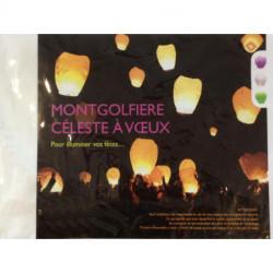 lanterne volante paquet de 6 multicolores