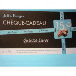 Bon cadeau Jeff de Bruges de 15 euros