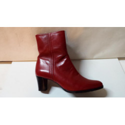Bottine de MARCO Made in France JOY en cuir agneau rouge ou noir