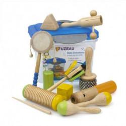 Malle 10 Instruments en Bois pour les petits FUZEAU