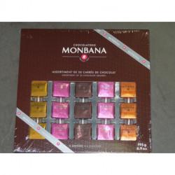 Coffret 50 carrés de chocolat Monbana