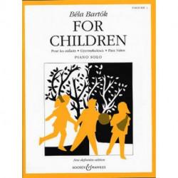 For children - Bartok - piano - vol 1