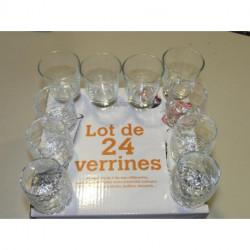 Coffret de 24 verrines en verre