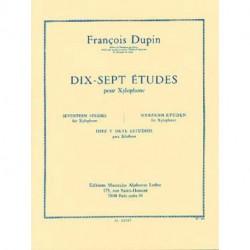 17 Études pour xylophone - DUPIN -LEDUC