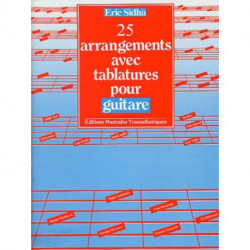 25 arrangements avec tablatures pour guitare E.SIDHA